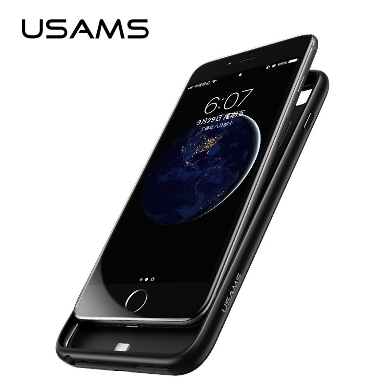 For iPhone 6 6 plus Power Bank Case USAMS Battery Charger Case <font><b>Ultra</b></font> Slim External Pack Backup Portable charger case 4200mAh