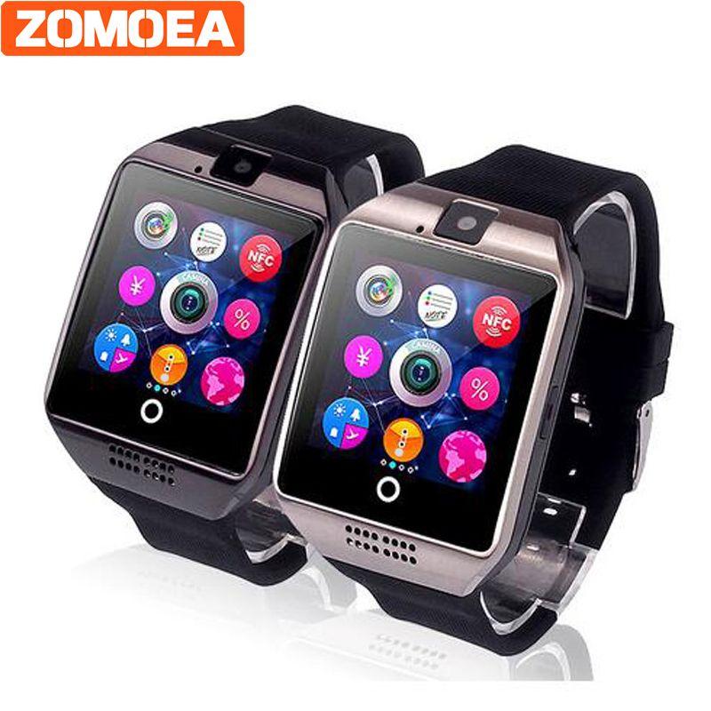 Бесплатная доставка dz09 Q18 Шагомер Смарт часы с Сенсорный экран камеры SD карты Bluetooth SmartWatch для Android телефон Для мужчин часы