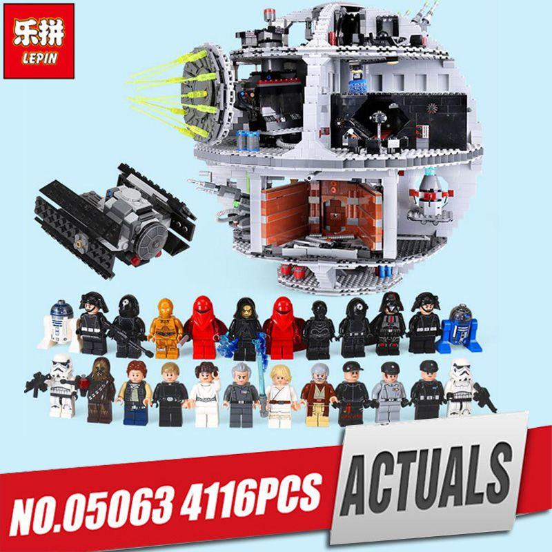 2018 DHL Free Shipping Lepin 05063 4016pcs Force Waken UCS Death Star Educational Building Blocks Bricks Toys Compatible legoed