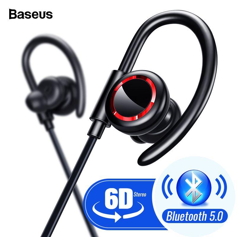 Baseus S17 Sport sans fil écouteur Bluetooth 5.0 écouteur casque pour Xiaomi iPhone Samsung oreille téléphone Bud mains libres Bluetooth casque écouteurs ecouteur sans fil bluetooth audio oreillette cuffie tour de cou