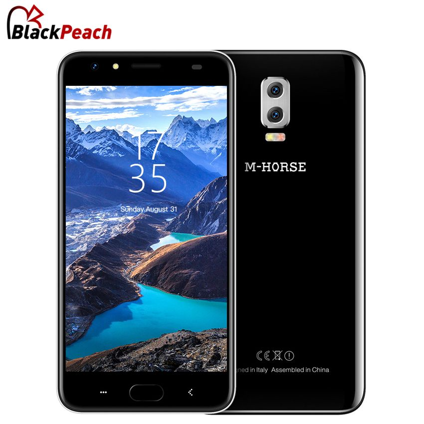 M-Horse Power 2 4G Smartphone 5.5 Inch MTK6737 Quad Core Android 7.0 2GB+16GB Dual Rear Camera 6000mAh Fingerprint Mobile Phone