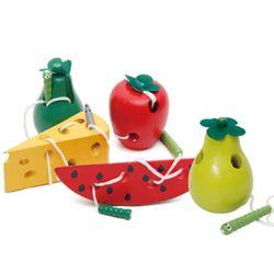 Kayu Pendidikan TK Bayi Mouse Benang Keju Mainan Belajar Awal Pendidikan Mainan Montessori Mengajar Bantu Matematika Mainan