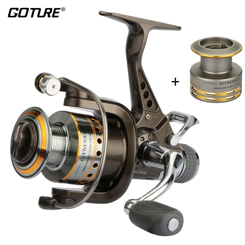 Goture marque GTM3000 moulinet de pêche filature 7 + 1 balles 5.0: 1 moulinet de pêche carpe bobine Max glisser 12.5KG double frein roue de pêche