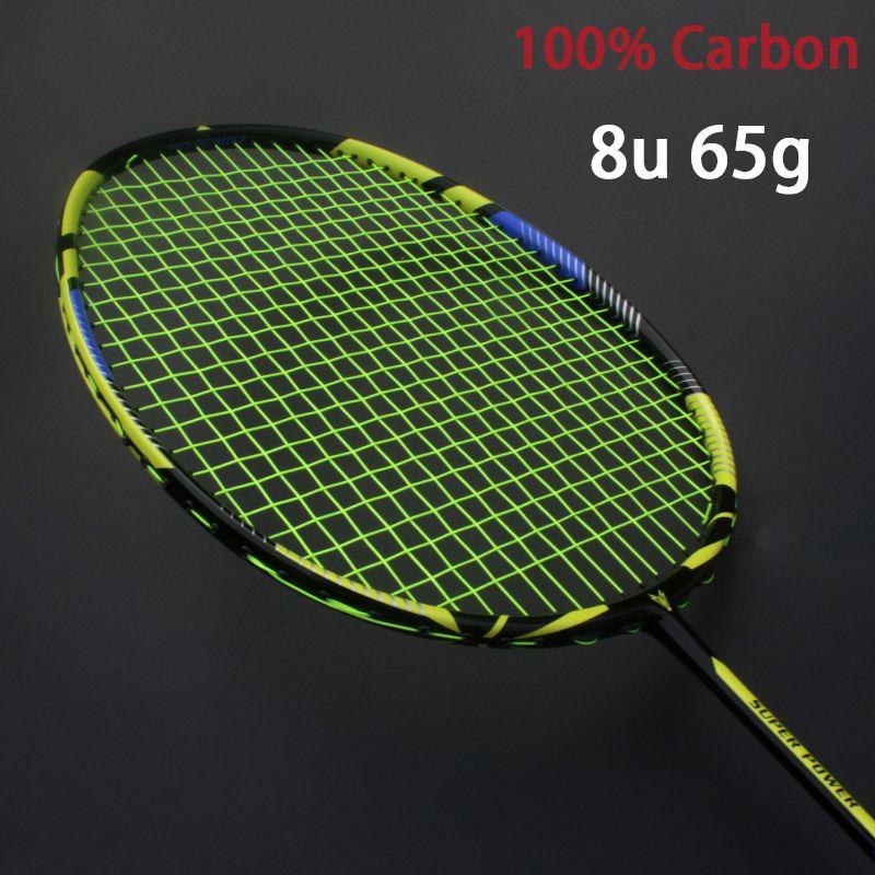 Professionelle Carbon 8U Badminton Schläger Ultra Licht Aufgereiht Tasche Multicolor Z Geschwindigkeit Kraft Raket String Rqueta Padel 22-30LBS