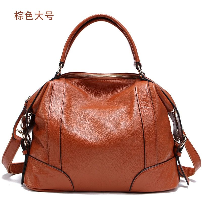 Fashion Korean Style Cowhide Bags Handbags Women Genuine Leather Tote Shoulder Crossbody Bags With Free Gift <font><b>Clutch</b></font> Bag