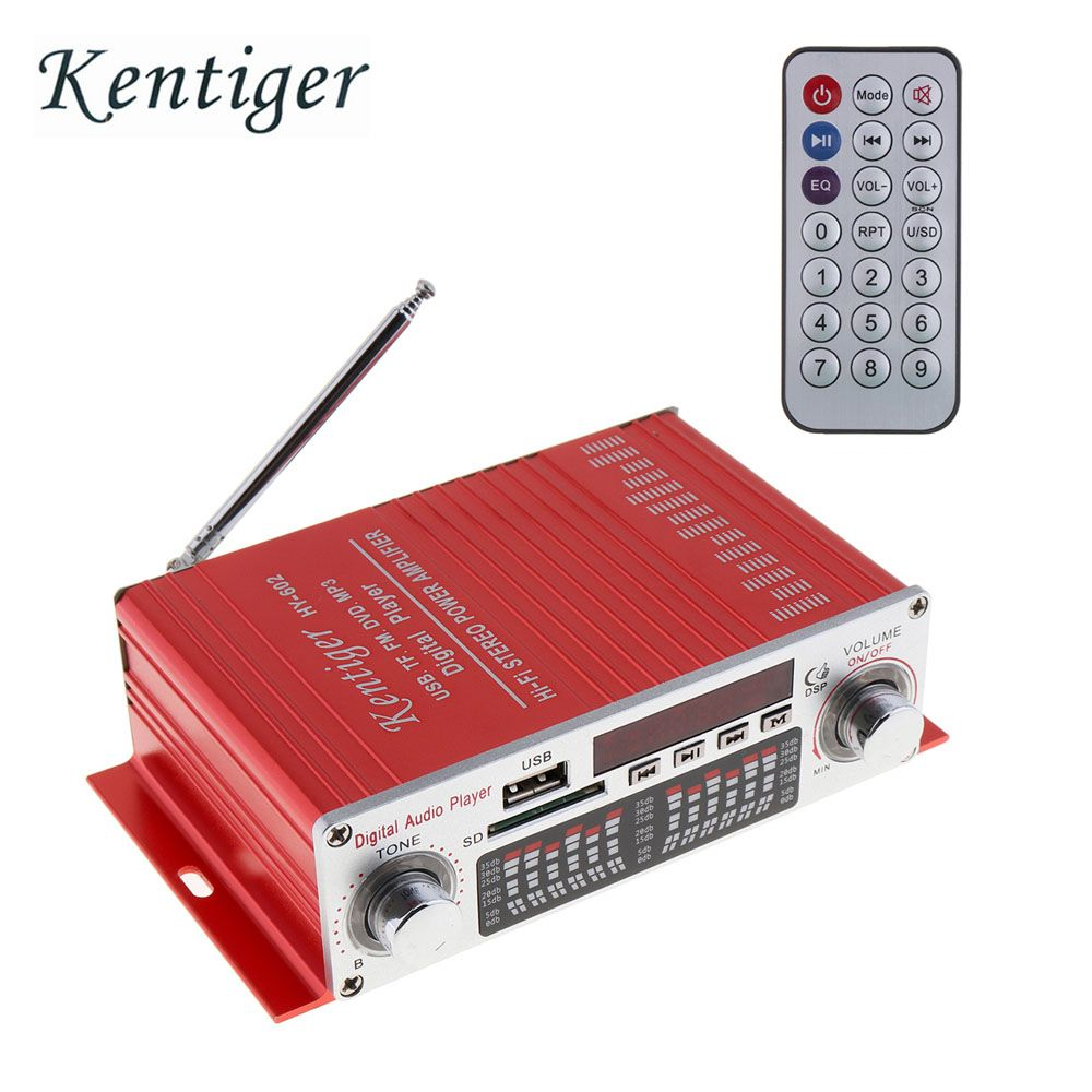 DC 12V HIFI Digital Car Power Amplifier FM Radio Stereo Audio Music Player Support SD USB MP3 DVD Input for Auto Motorcycle