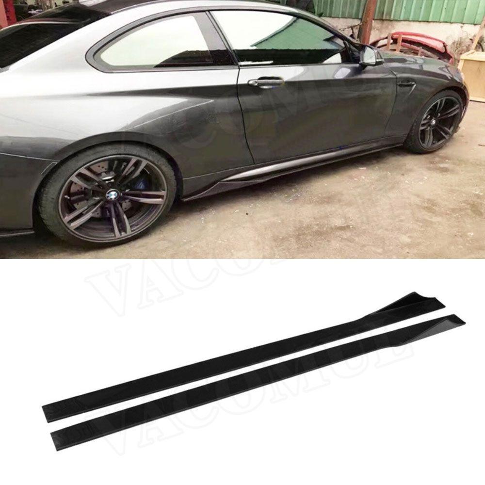 Universal-Carbon Fiber Tür Protector Kinn Kit Schutz Seite Röcke Schürzen für BMW M2 M3 M4 X5 X6 Universal autos