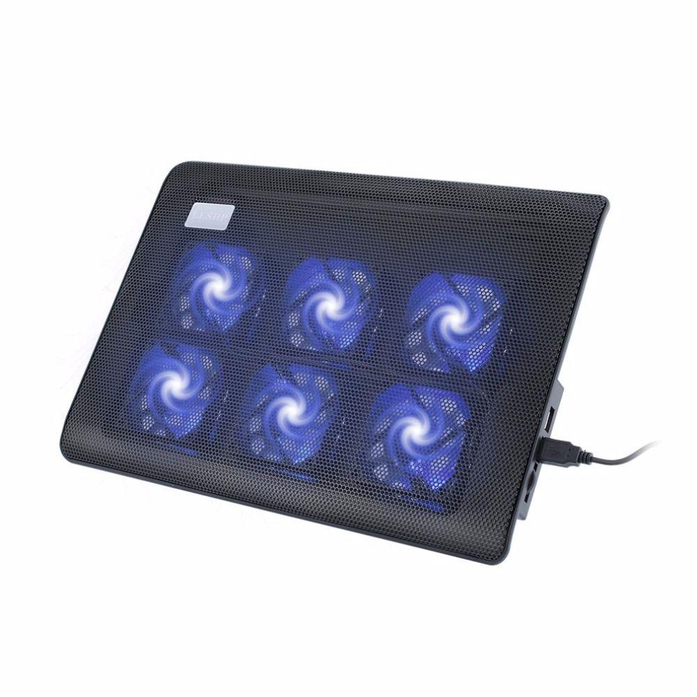 Super Stumm 6 Fans Laptop Kühler Laptop Notebook Computer Fan-grundplatte