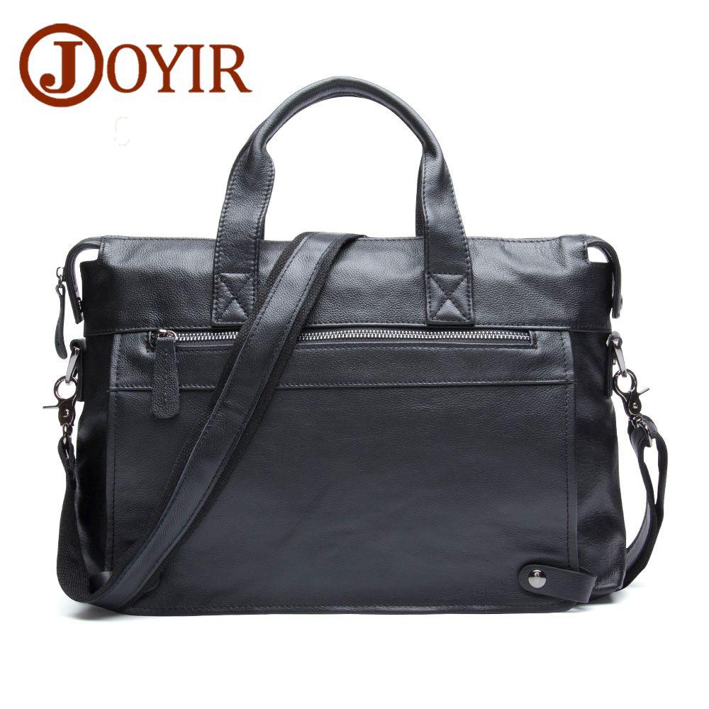 JOYIR Neue Männer Business Echtem Leder Aktentasche Mode Messenger Crossbody Tasche Laptop Handtaschen Schultertasche Tote für Männer 6309