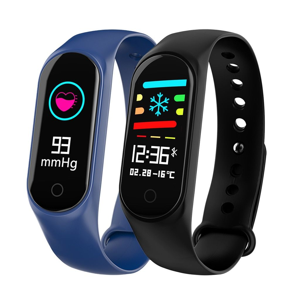 OGEDA M3S Smart Bracelet Color-screen IP67 Fitness Tracker blood pressure Heart Rate Monitor Smart band For Android IOS phone