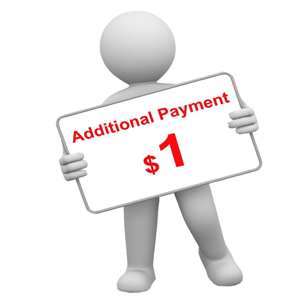 Additional Payment (please don't order unless we tell you)