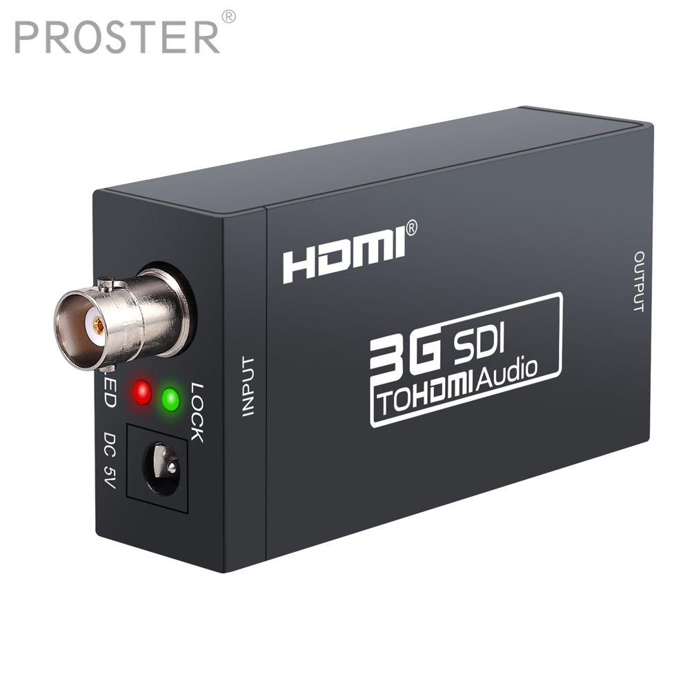 Proster SDI zu HDMI Konverter Adapter, 1080 P SDI zu HDTV Audio Converter für SD-SDI, HD-SDI und 3G-SDI signale DAC Converter