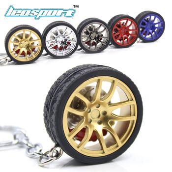 LEOSPORT-RIM брелок для ключей колеса автомобиля Nos турбо брелок металлический с тормозными дисками 002