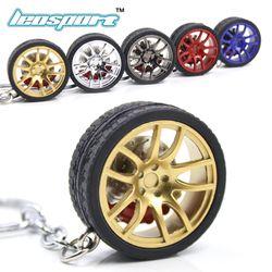 LEOSPORT-RIM wheel keychain Car wheel Nos Turbo keychain key ring metal with Brake discs 002