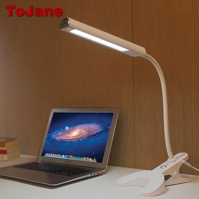 ToJane TG902 Desk Lamp 8W Eye Care Led Table Lamp 3 Color Modes x 3 Dimable Levels Led Desk lamp Clip For Reading Book Light