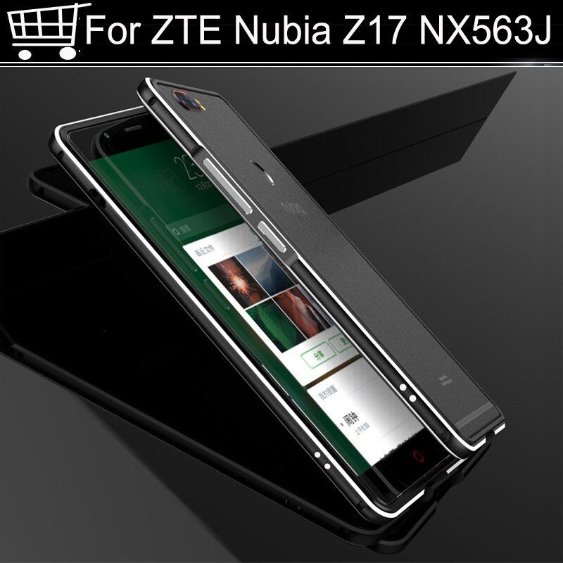Luxury Original Brand Aluminum Metal Bumper For ZTE Nubia Z17 Z 17 nx563j Metal Case Cover Column Shape Frame For Z17 5.5 Inch