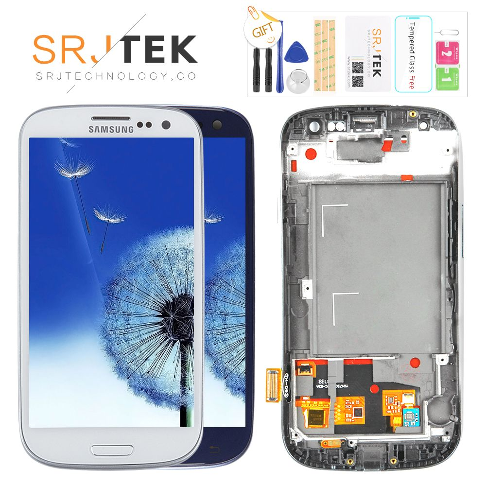 TESTED For SAMSUNG Galaxy S3 Display i9300 i9300i Touch Screen Digitizer Replacement For SAMSUNG Galaxy S3 LCD Screen