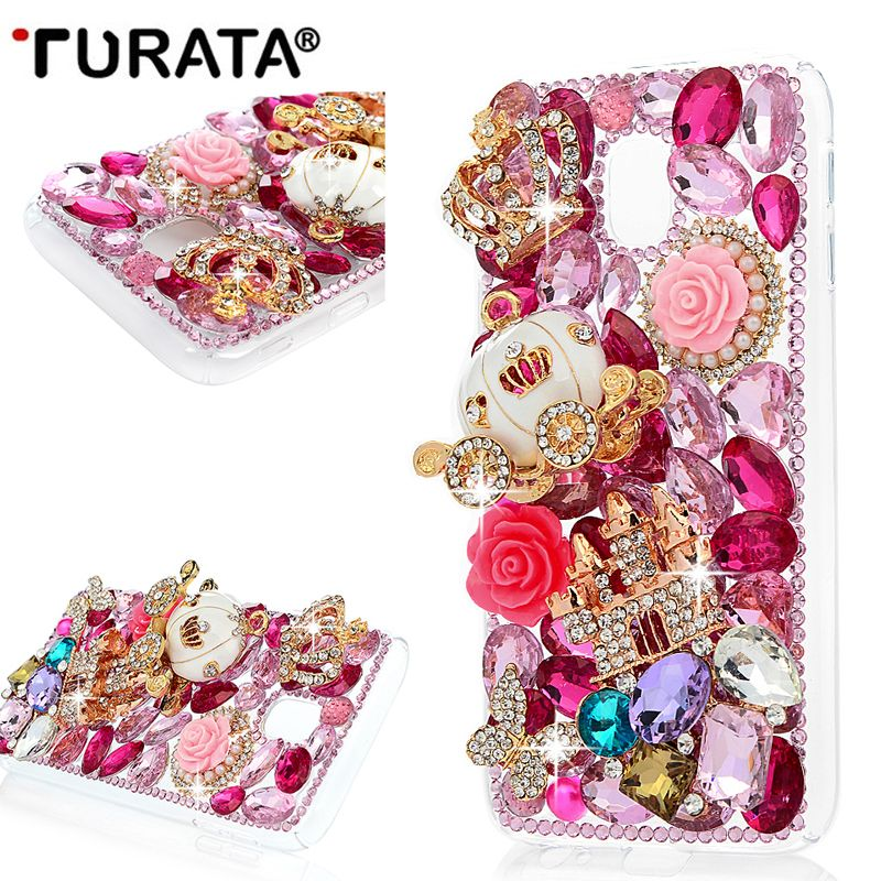 3D Rhinestone Case for Samsung Galaxy J3 2017 (Europen Version)Bling Crystal Diamond Protective Shell Cover for Samsung J330 T40