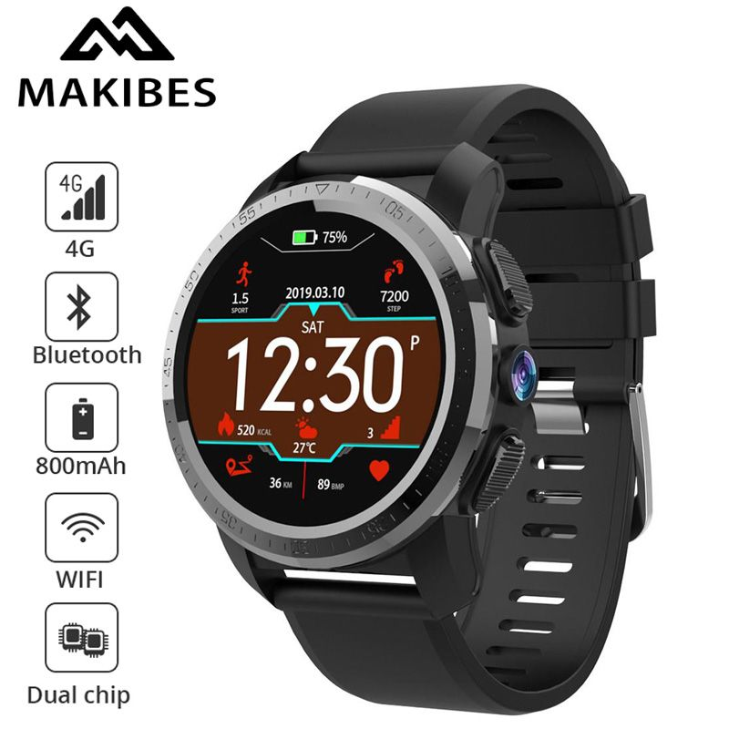 NEUE Makibes M3 4G MT6739 Dual chip Wasserdichte Intelligente Uhr Telefon Android 7.1 8MP Kamera GPS 800 mAh Antwort anruf SIM TF Smartwatch