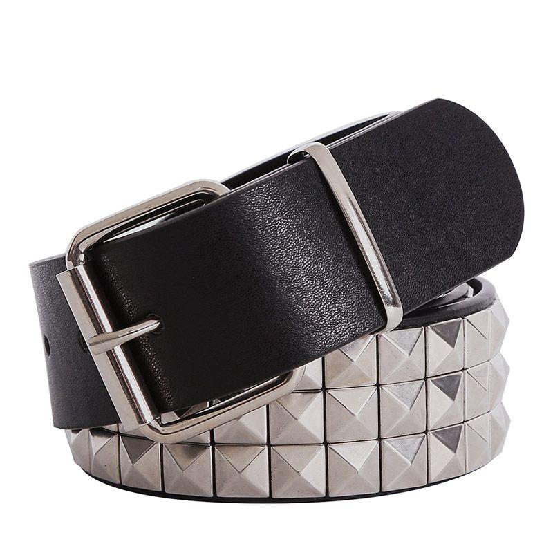 Brillant pyramide mode Rivet ceinture hommes et femmes clouté ceinture Punk Rock avec boucle ardillon livraison gratuite