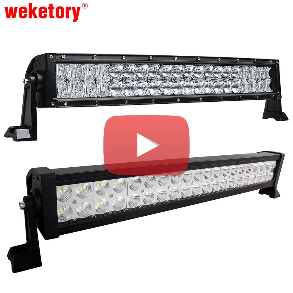 Weketory видео торговый 22 дюймов 5D Изогнутые Прямой светодиодный свет бар для трактора лодка Offroad 4WD 4x4 грузовик внедорожник ATV 12 В 24 В