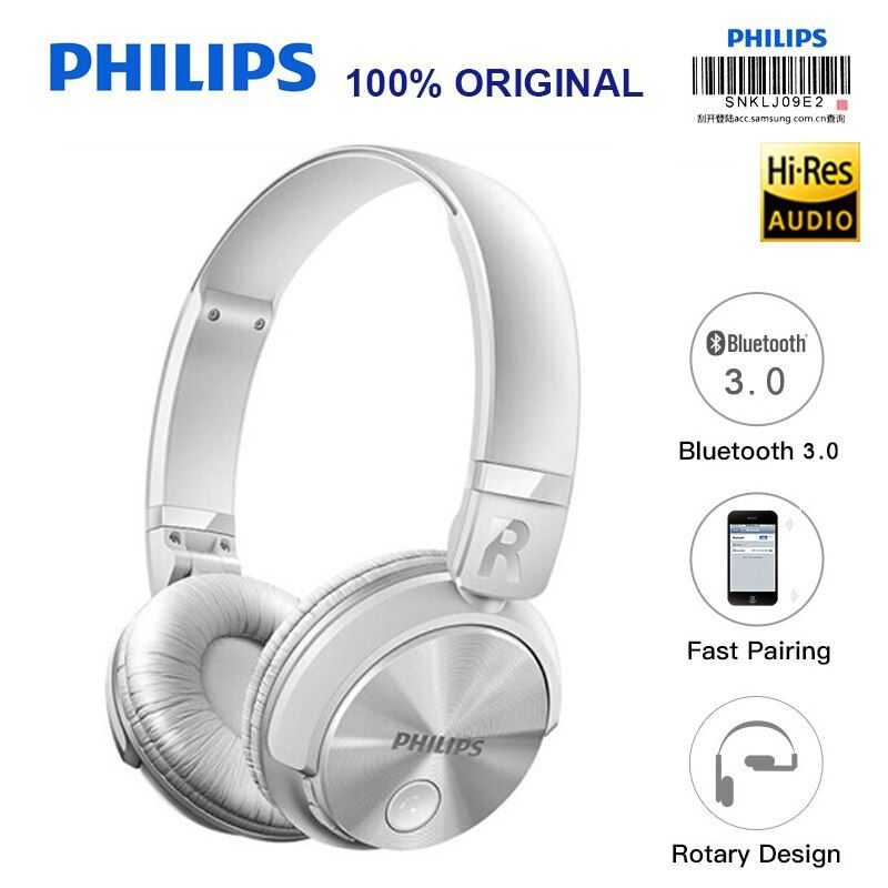 Philips SHB3060 Headband Bluetooth Headset/Wireless Earphone Lithium Battery Micro USB for IPhone MP3 Game Computer