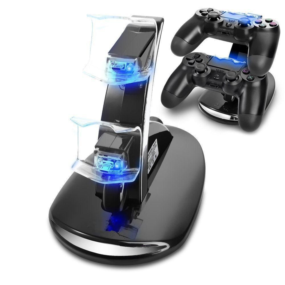 Gasky Dual Controller Holder Fast Charger USB Handle Cradle Dock Station Stand Gamepad Charger for PS4 Slim Pro Controller