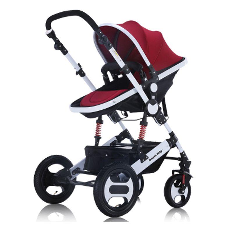 Dragon baby доставка Детская коляска высокого пейзаж могут сидеть лжи и зимние детские двусторонней шок тележка портативный складной детей