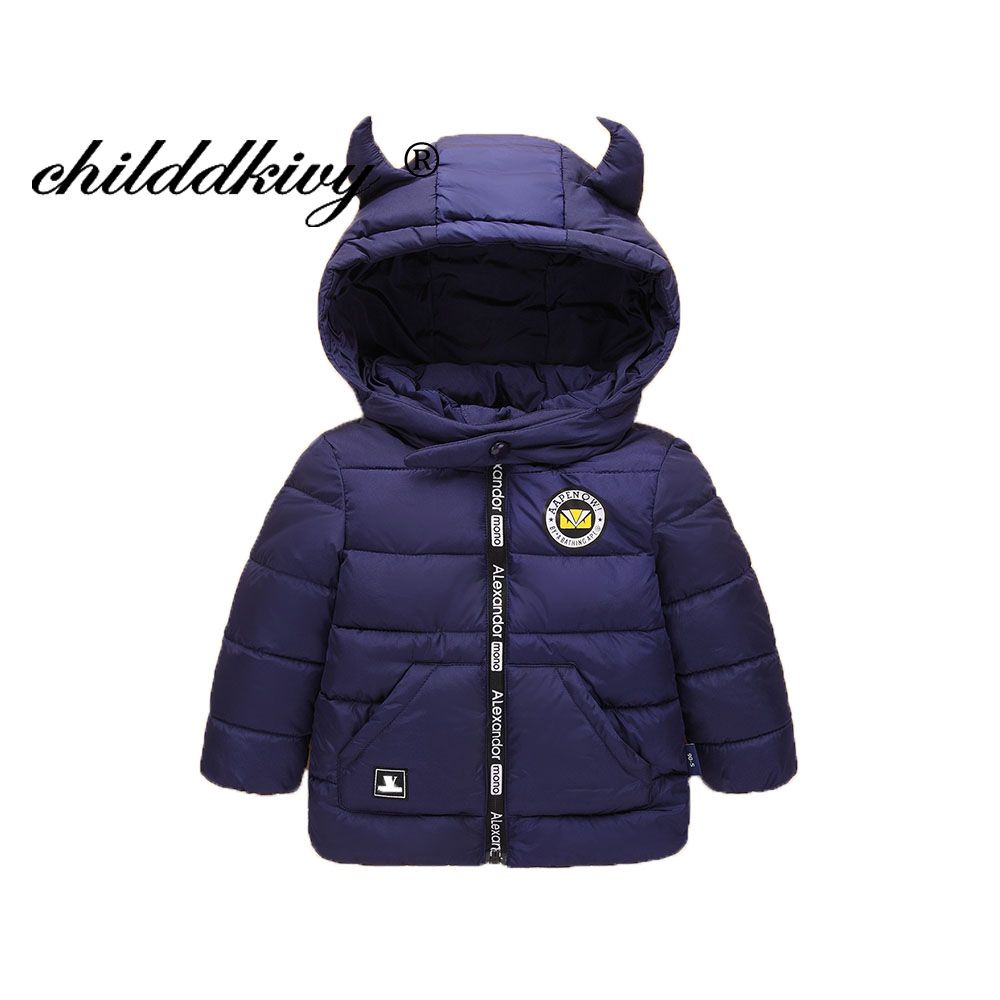 2-8 Years Children Winter Jackets Baby Girls Cotton Padded Coats Kids Boy Cute Jacket Warm Outerwear Autumn Casual Clothing