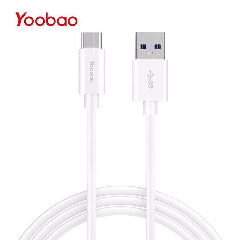 Yoobao YBCA3 USB Type C 3.1 câble USB type-c chargeur câble de données 3A ligne de téléphone portable tête en métal câble de charge TypeC pour Huawei LG