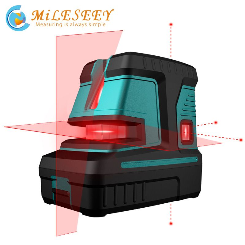 Mileseey L32R Laser Level cross 5point Vertical Horizontal Lasers