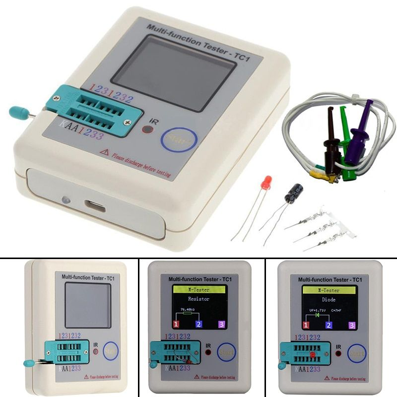 New Multifunction Tester Measurement Instruments TFT Meter DIY ESR LCR Diode Triode Capacitance Mayitr Transistor Testers