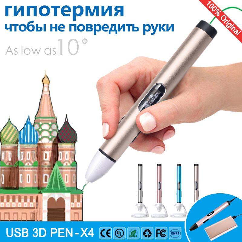3d stylo 3d stylos À Faible température, protéger les mains, 3 d stylo 3d modèle, Soutien mobile alimentation, impression 3d pen, affichage LED