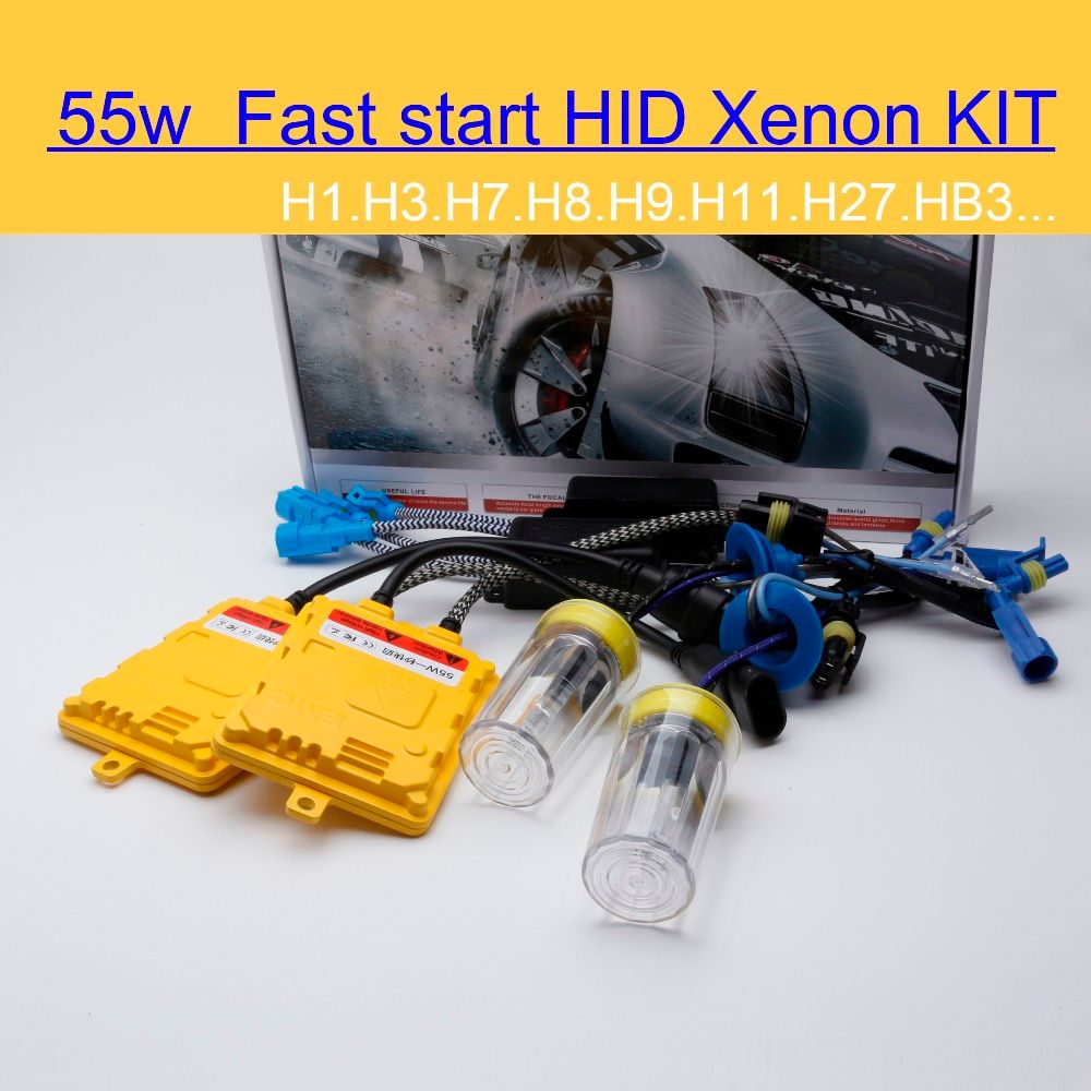 2016 Limited Real Fast Start Xenon Light F55 55w for Hid Kit H1 H3 H7 H4 H11 9005 Hb3 9006 Hb4 D2s H27 881 4300k 6000k 8000k
