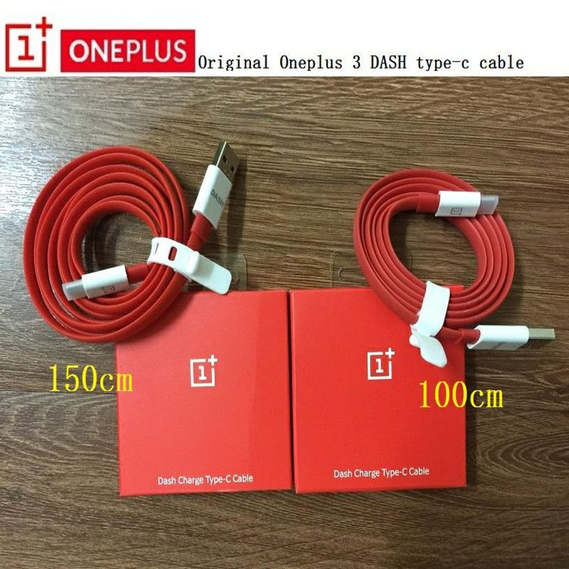 Original One plus 6T Dash USB Type C Cable Flat Noodle RED 1m/1.5m Fast Quick charge data For Oneplus three five six T 3T 5 5T 6