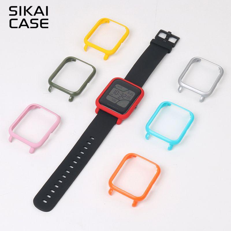 SIKAI Pour Xiaomi Huami Amazfit Montre Accessoires PC Cas Pour Huami Amazfit Bip Peu Pour Imprimer (rythme Lite) Étui de protection