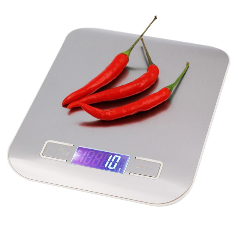 5000g Digital <font><b>Scale</b></font> Kitchen Weight 5KG 1G electronic weighing balance Cooking Tools with Super slim Stainless Steel Platform