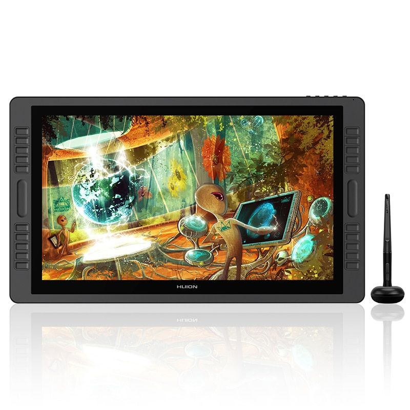 HUION kamvas Pro 22 GT-221Pro V2 Batter-free Pen Tablet Monitor Tilt Support Graphics Drawing Pen Display Monitor 8192 Levels