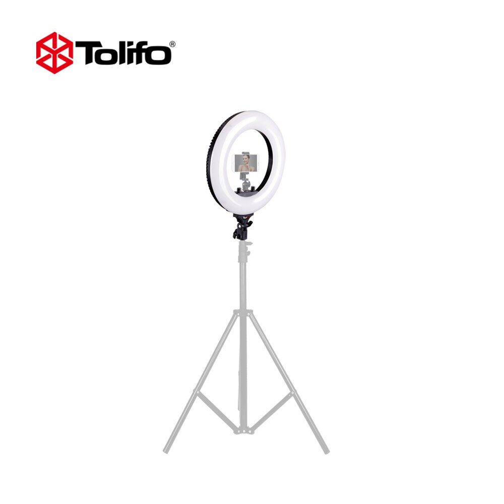 Tolifo R40B AC 40W Bi-color LED Photographic Lighting Dimmable Camera/Studio/Video Photography Ring Light Lamp 2 Color Choice