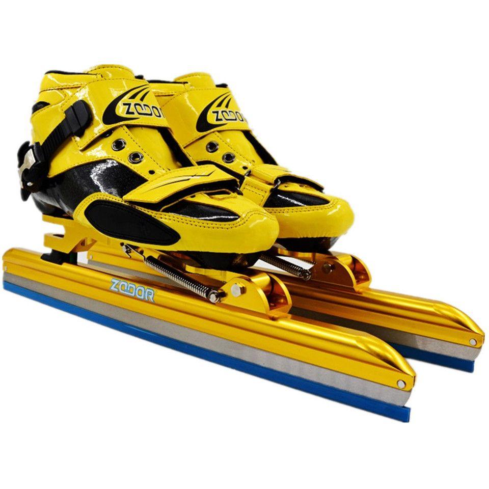 Japy Carbon/Fiberglas Geschwindigkeit Eis Klinge Skating Schuhe Metall Fix Lage Messer Racing Skates Komfortable Patines Turnschuhe J002
