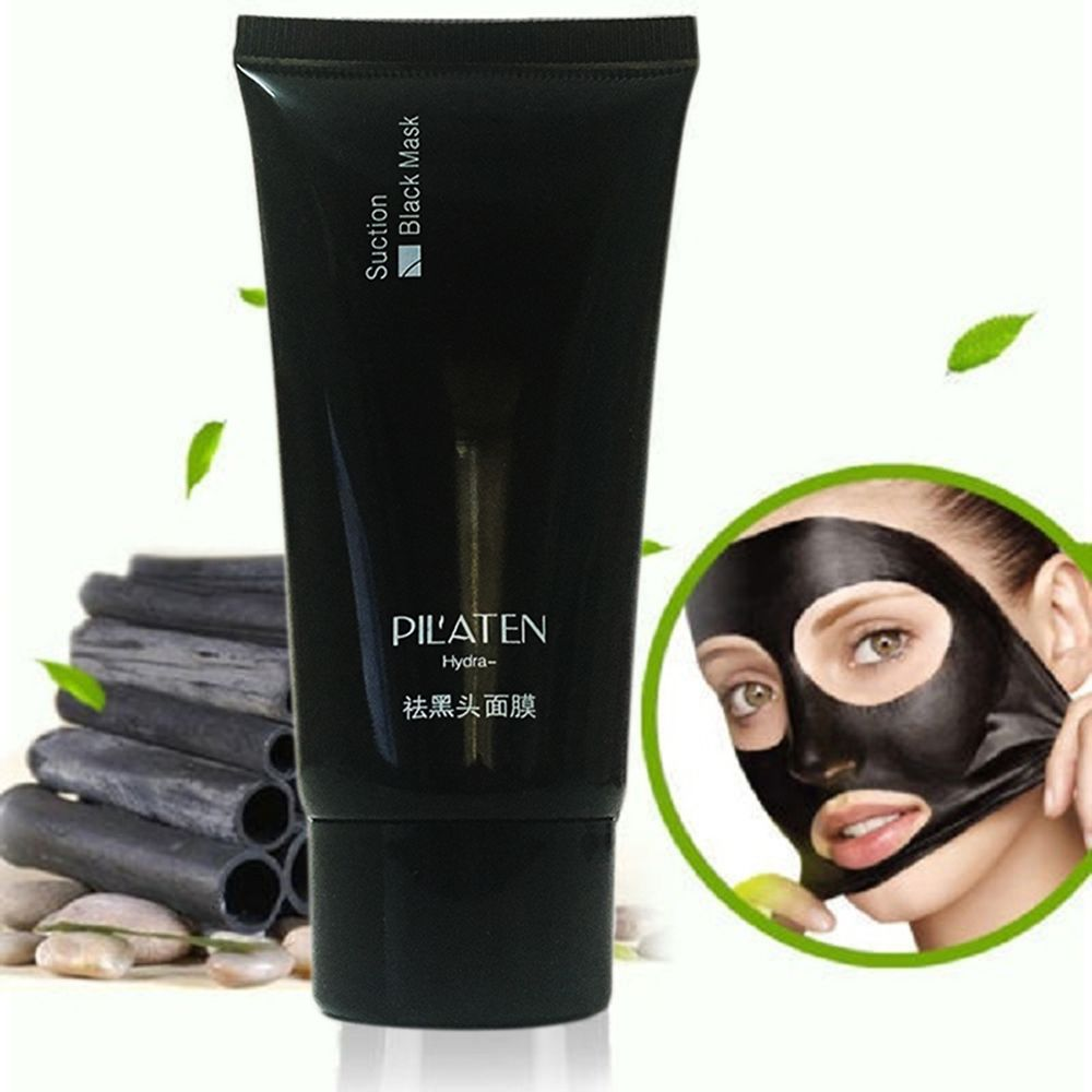 Face Care Black Mud Cleansing Suction Mask Peel Off Facial Skin Mask Nose Blackhead Remover Acne Treatment PILATEN