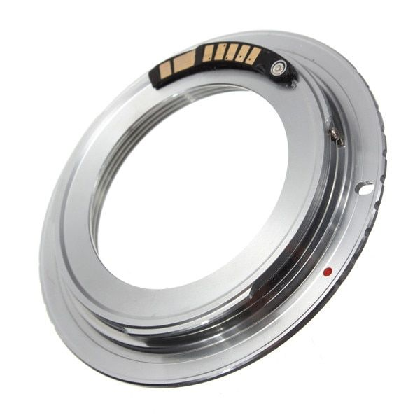 1Pcs Brass AF Confirm Chip M42 Lens to for Canon for EOS Mount Adapter 60D 50D 40D 600D 550D 500D Silver