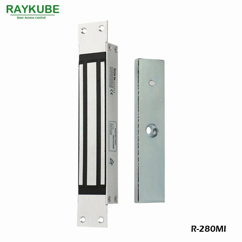 RAYKUBE 280 KG (600lbs) Magnetverschluss Mit Einsteckschloss Halterung Für Dooe Zutrittskontrollsystem Elektroschloss R-280MI