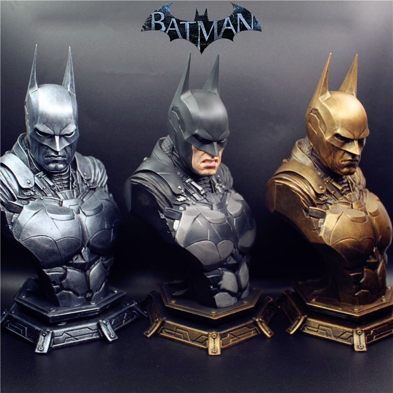 2018 (LIFE SIZE) 1/3 Super Hero Batman Statue Dawn of Justice Batman Resin Bust Statue Recast With replaced heads Toys