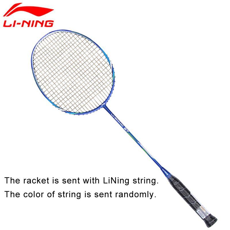 Li-Ning U-Sonic 27 Badminton Schläger Mit String Carbon Faser Professionelle Futter Schläger AYPM224 ZYF211