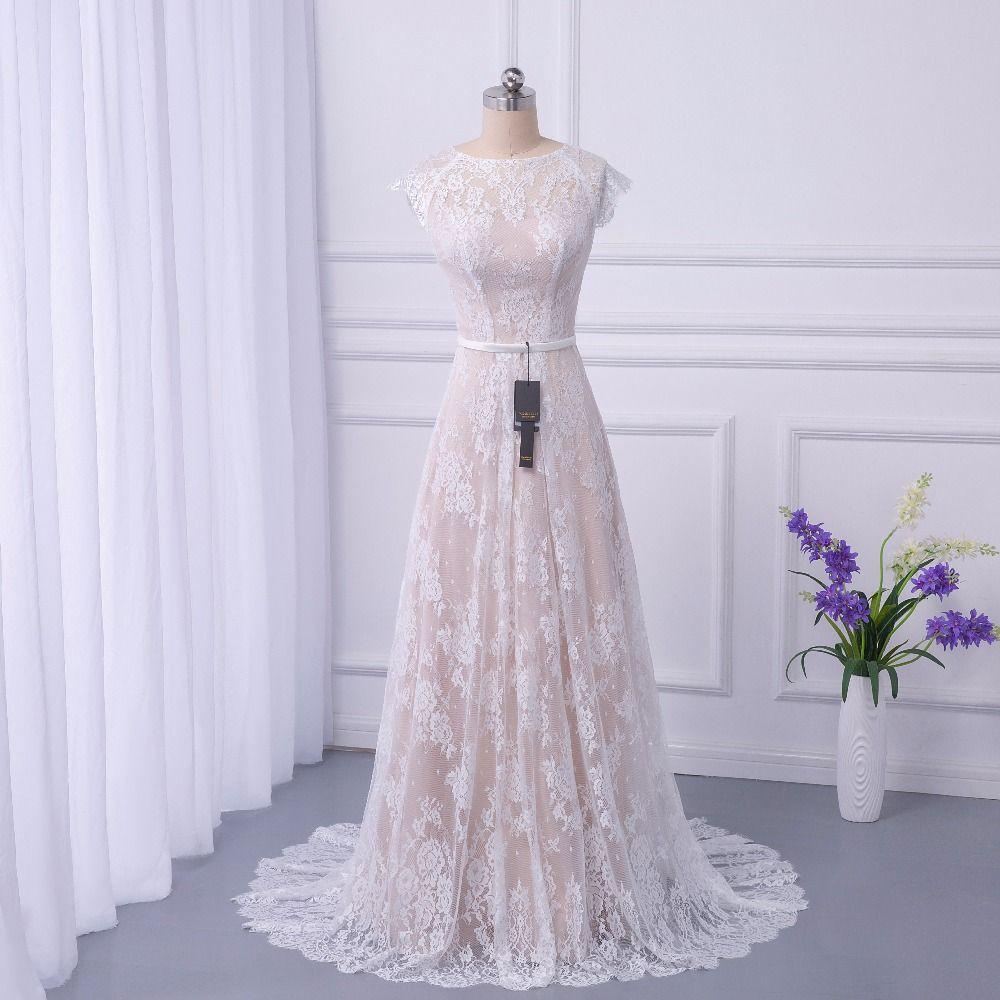 2018 braut Boho Spitze Hochzeit Kleid Brautkleider Gericht Zug vestidos de noiva robe de mariage lange Robe de Maria casamento