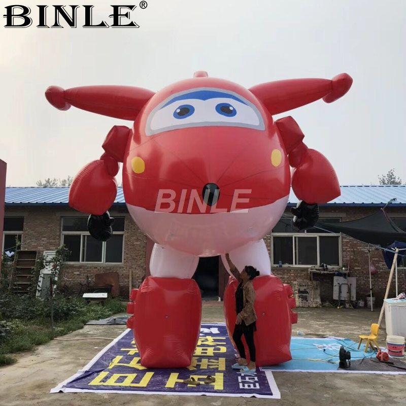 Angepasst schöne rote große aufblasbare flugzeug modell cartoon zeichen für shopping mall dekoration