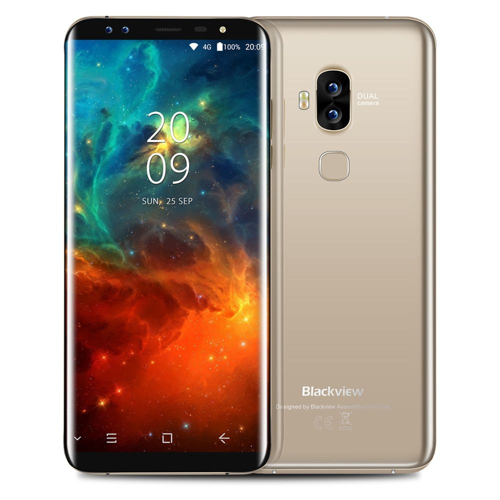 Blackview S8 4G Phablet Smartphone 5,7 zoll Android 7.0 MTK6750T 1,5 GHz Octa-core 4 GB RAM 64 GB ROM 8.0MP 0.3MP Dual Vorne kameras