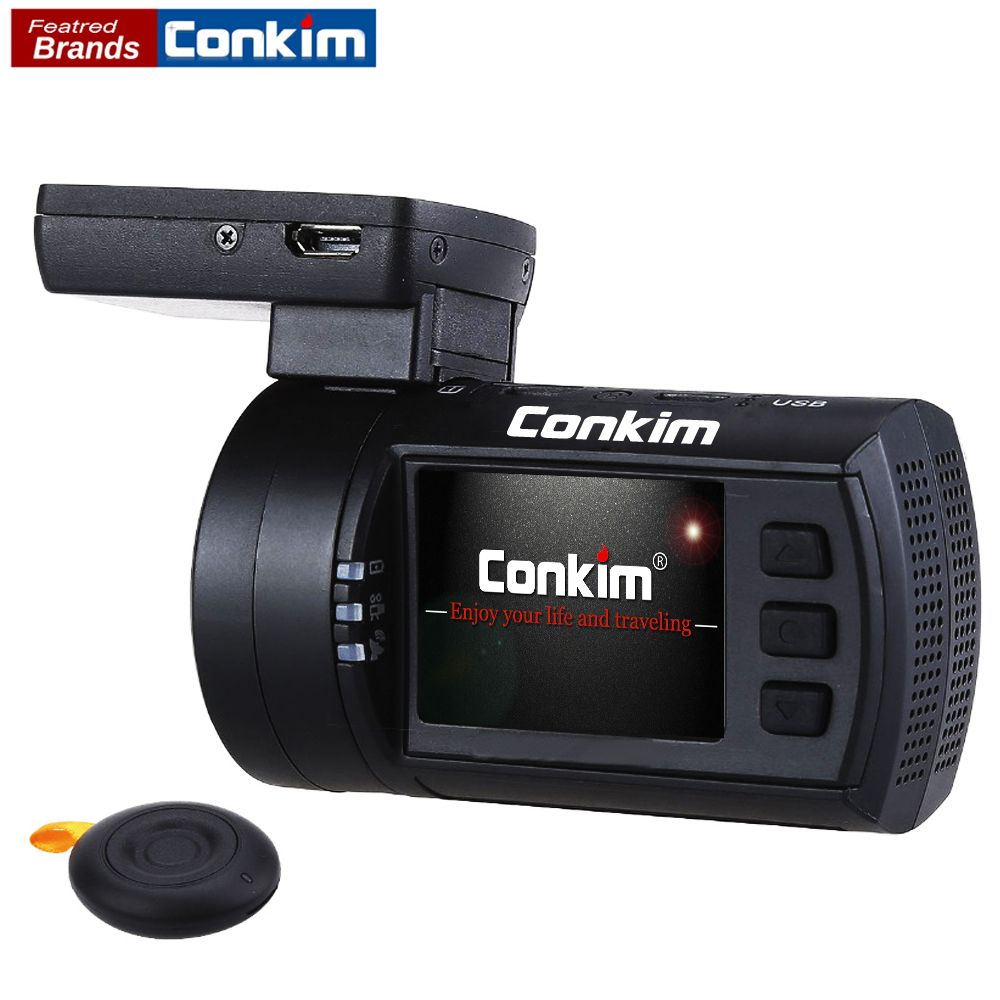 Conkim DVR Car Dash Camera GPS Novatek 1080P 60FPS Ultra HD Digital Video Recorder Super Capacitor Registrar Cam Mini 0906s