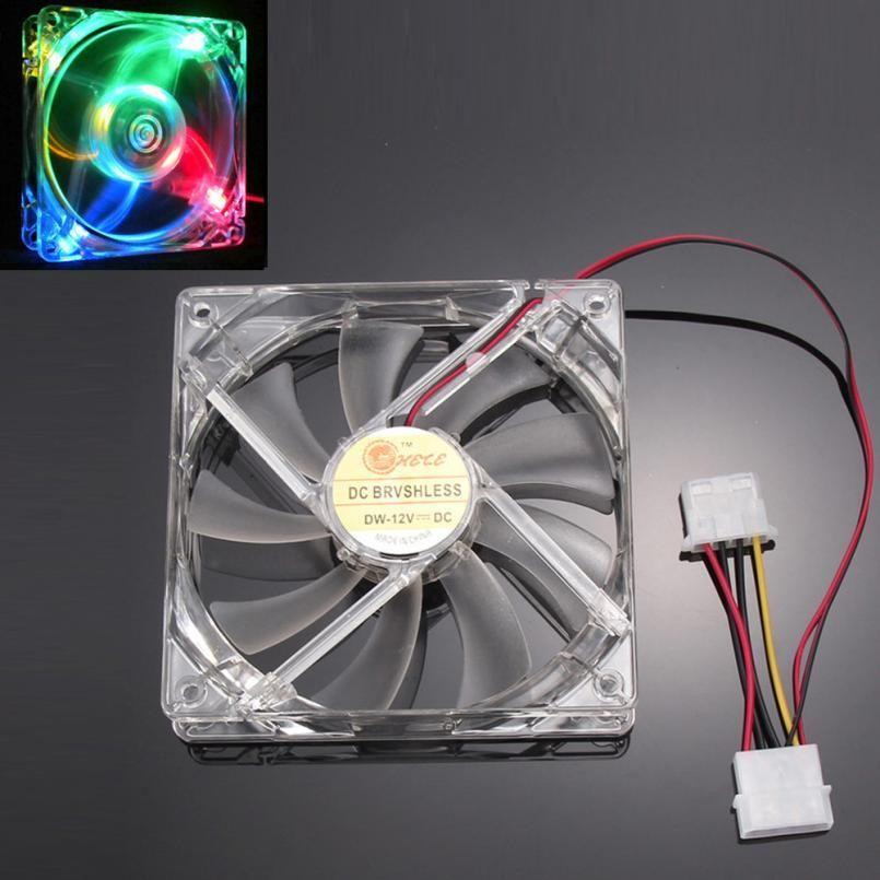 Хорошие продажи красочные Quad 4-свет Неон ясно 120 мм PC чехол для ноутбука вентилятор охлаждения mod Бесплатная доставка может 31